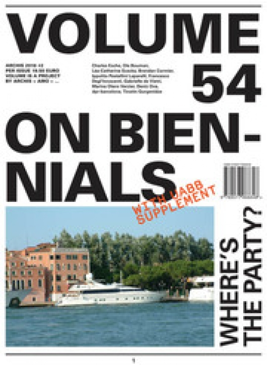 Volume # 54 - On Biennals
