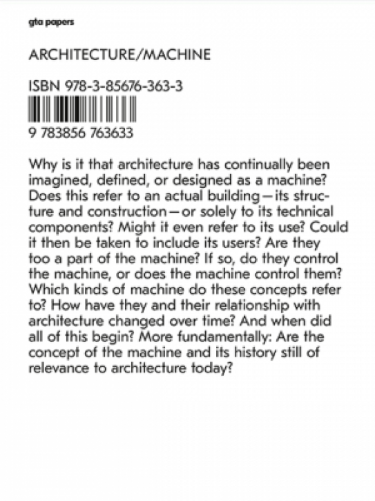Architecture / Machine - Programs, Processes, and Performances
