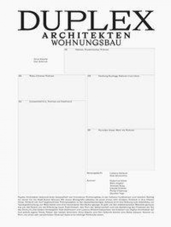 Duplex Architekten - Wohnungsbau