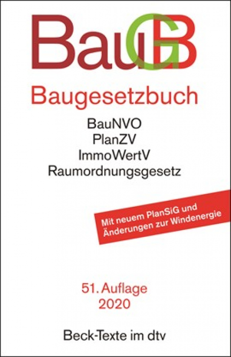 Baugesetzbuch - Bau GB (51.Auflage)