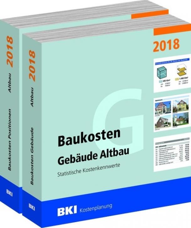 BKI Baukosten Altbau 2018 Teil 1+2 Gebäude + Positionen
