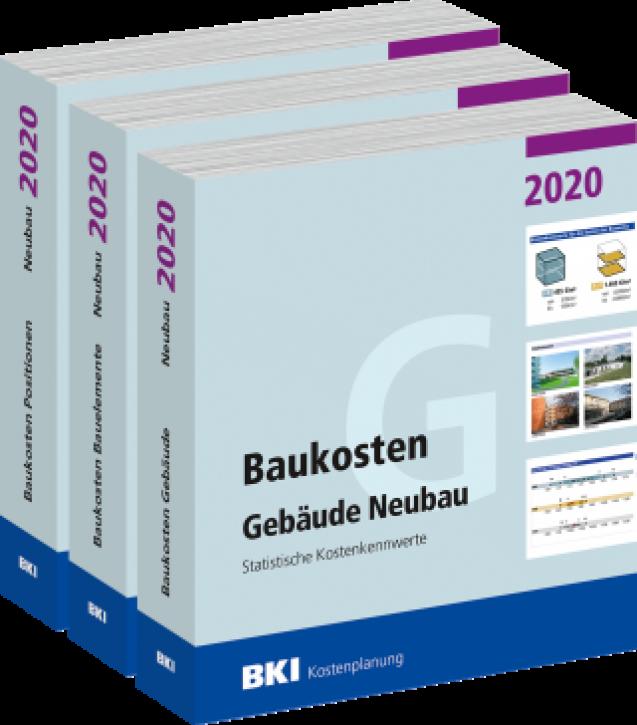 BKI Baukosten Gebäude, Positionen und Bauelemente Neubau 2020 - Teil 1-3 Statistische Kostenkennwerte