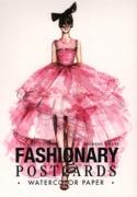 Fashionary Postcards Watercolor Womens Figure