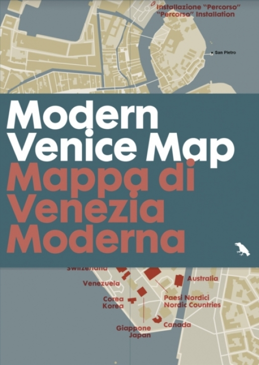 Modern Venice Map: Guide to 20th Century Architecture in Venice, Italy