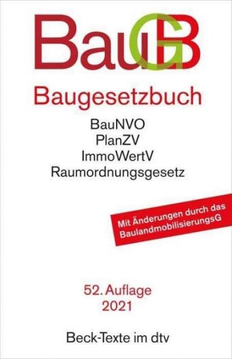 Baugesetzbuch (52. Auflage 2021)