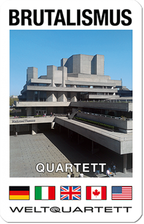 NEU! Brutalismus Quartett - Die aufregendsten Betonbauten des 20. Jahrhunderts