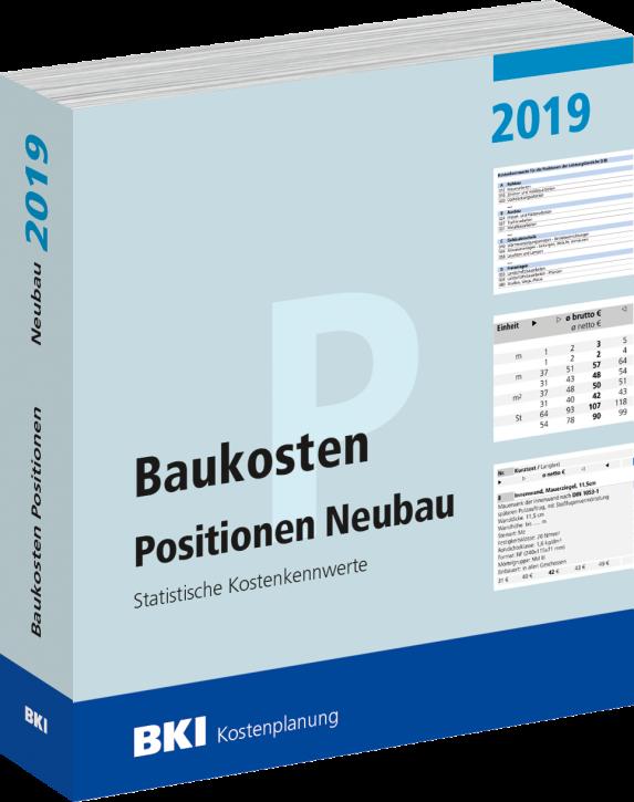 BKI Baukosten 2019 Neubau Teil 3: Positionen