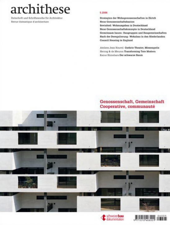 Genossenschaften (Archithese 5.2006)