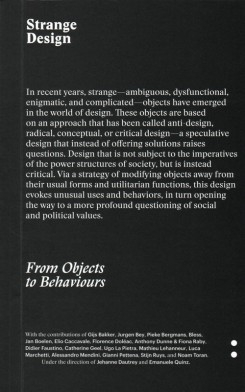 Strange Design: From Objects To Behaviours