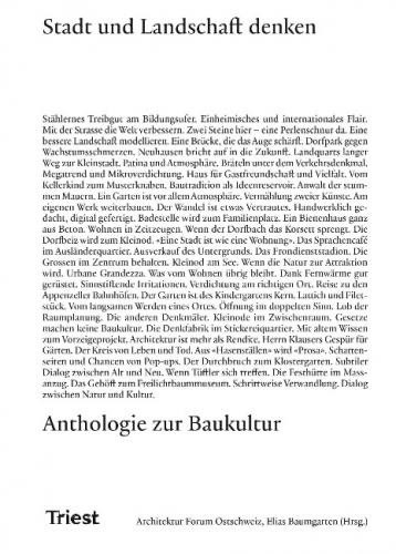 Stadt und Landschaft denken - Anthologie zur Baukultur