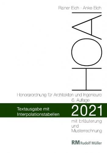 HOAI 2021 - Textausgabe mit Interpolationstabellen