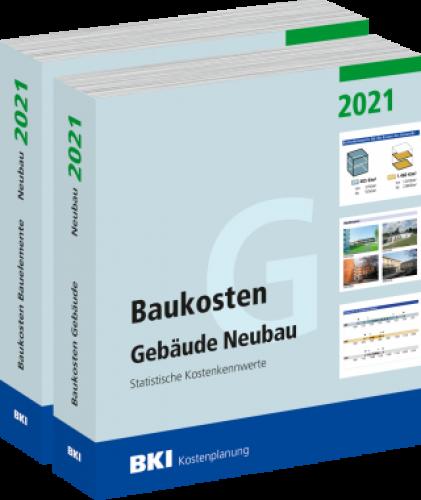 BKI Baukosten Gebäude, Bauelemente Neubau 2021 - Teil 1-2