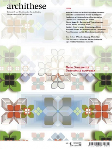 Neue Ornamente (Archithese 2.2004)